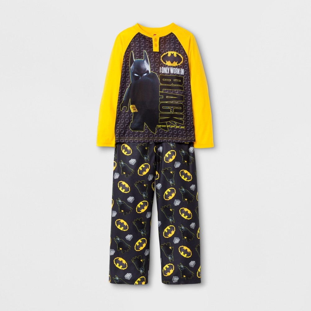 Boys Lego Batman Movie Pajama Set - Yellow 4-5