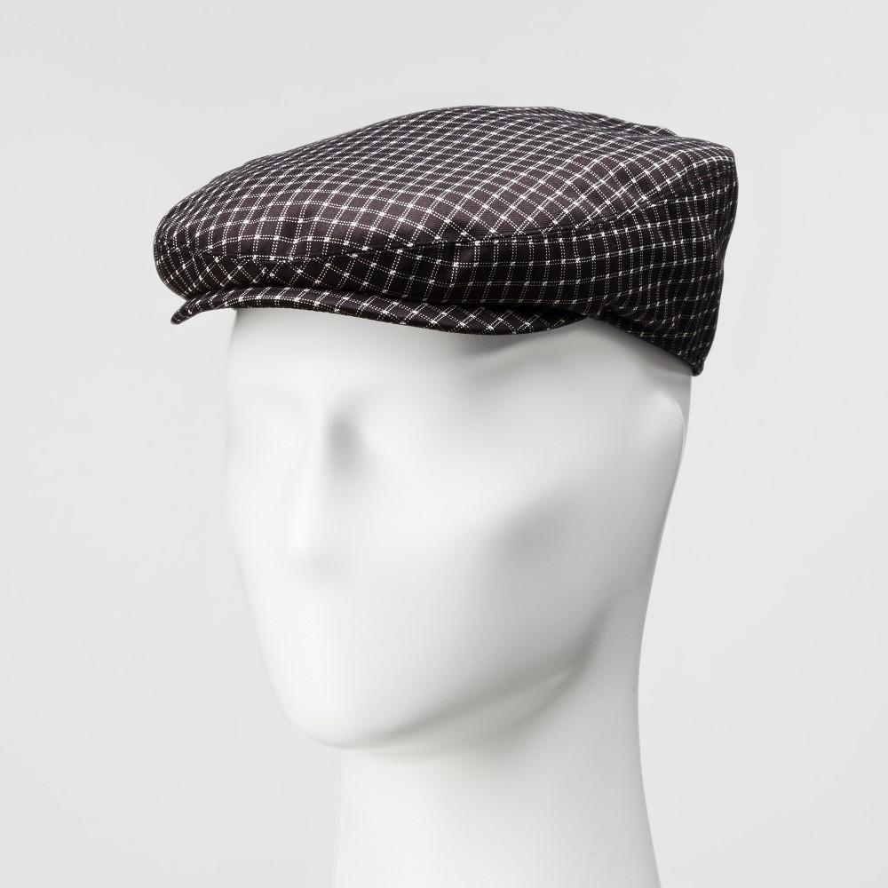 Mens Plaid Flat Cap - Goodfellow & Co Black/White M/L, Black White