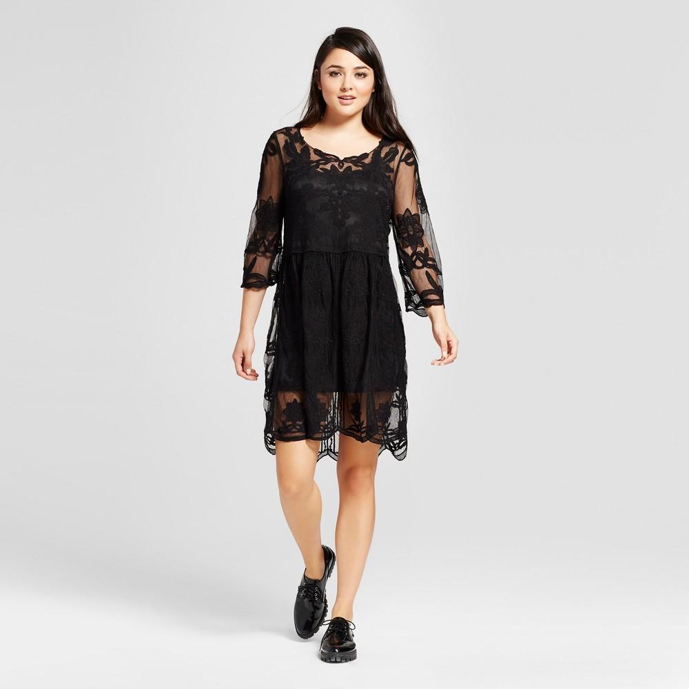 Womens Crochet Dress - K by Kersh Black L