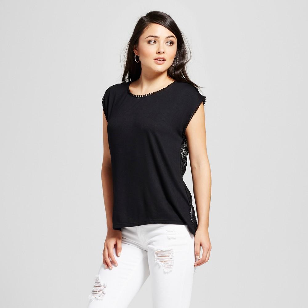 Womens Lace Back Top - K by Kersh Black XL
