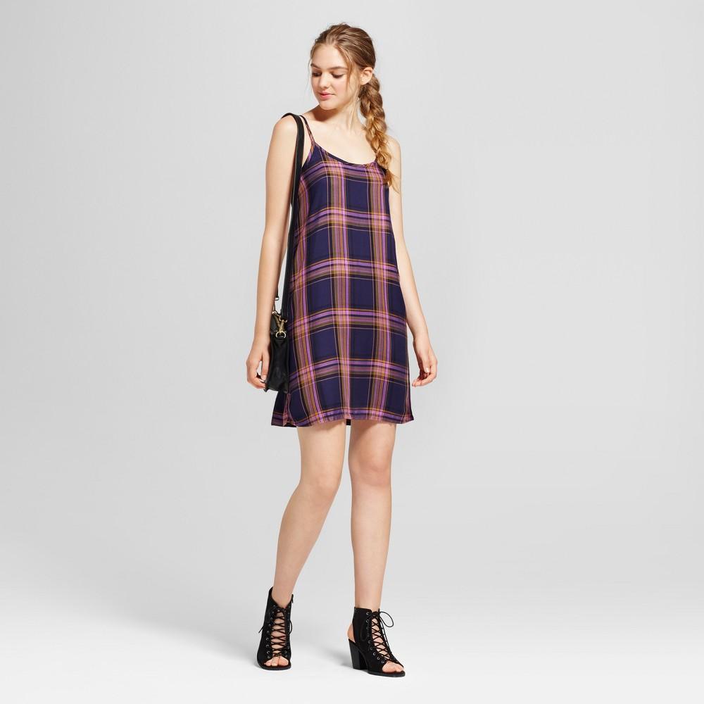 Womens Plaid Woven Slip Dress - Mossimo Supply Co. Blue M
