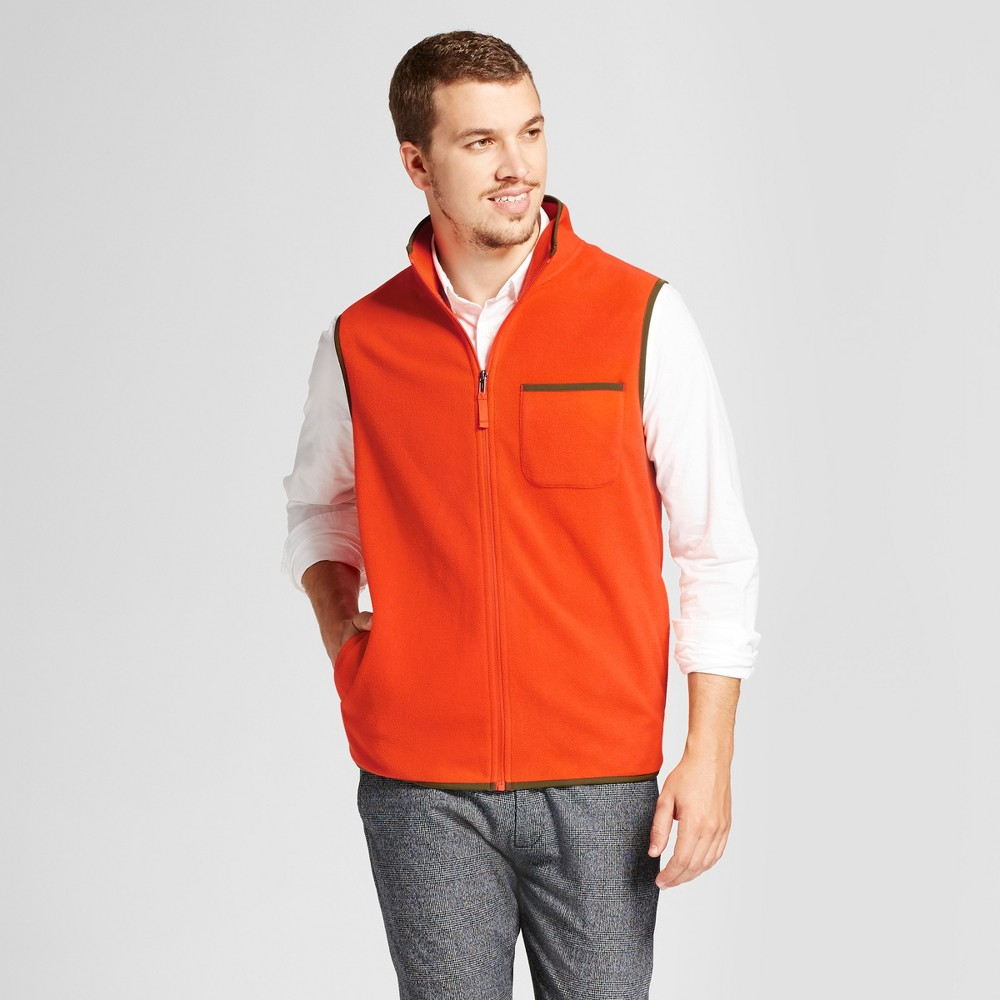 Mens Microfleece Vest - Goodfellow & Co Orange M