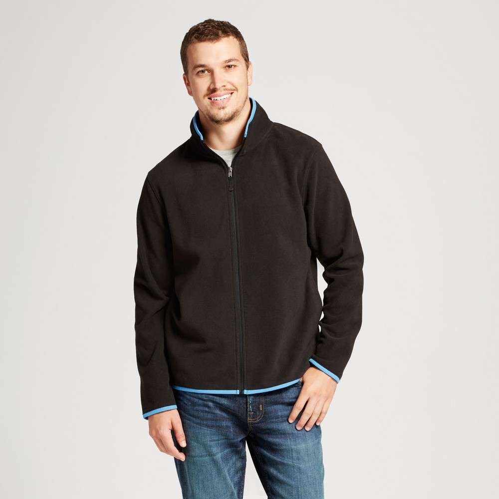 Mens Microfleece Jacket - Goodfellow & Co Black M