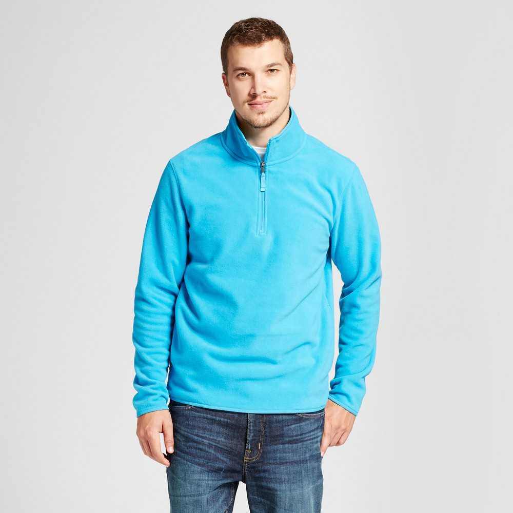 Mens Microfleece Pullover - Goodfellow & Co Blue M