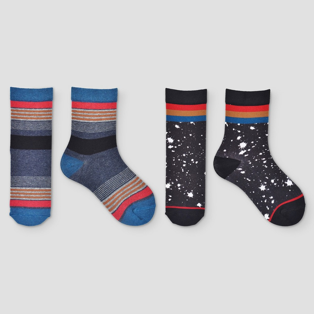 Boys Athletic Socks 2pk - Art Class L, Multicolored