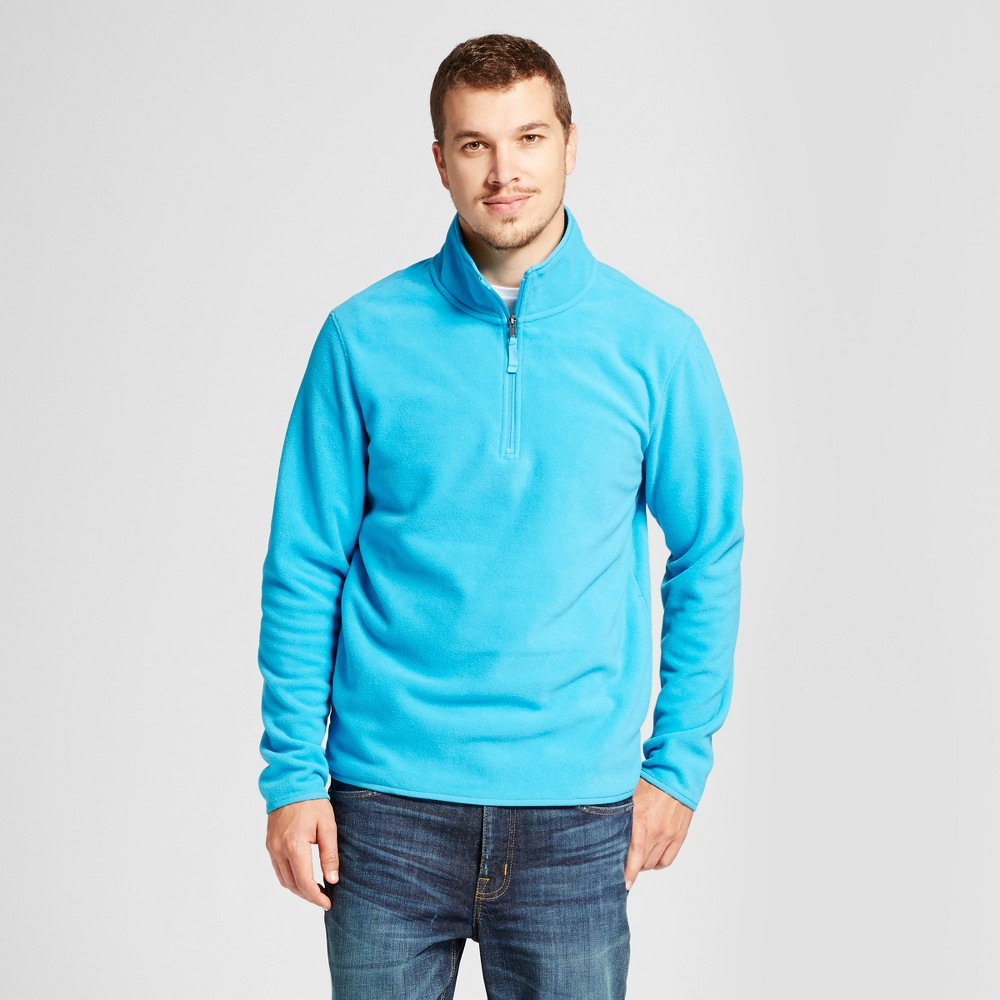 Mens Microfleece Pullover - Goodfellow & Co Blue L