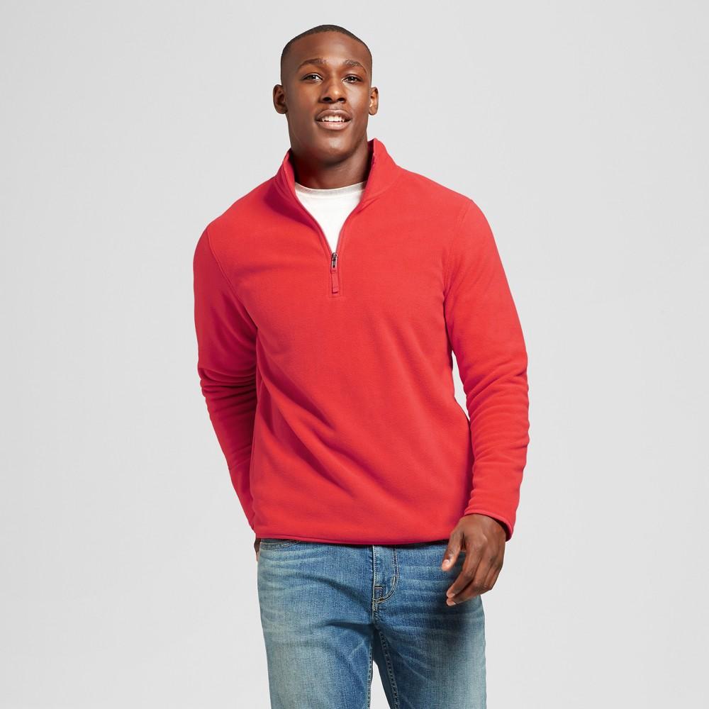 Mens Microfleece Pullover - Goodfellow & Co Red XL