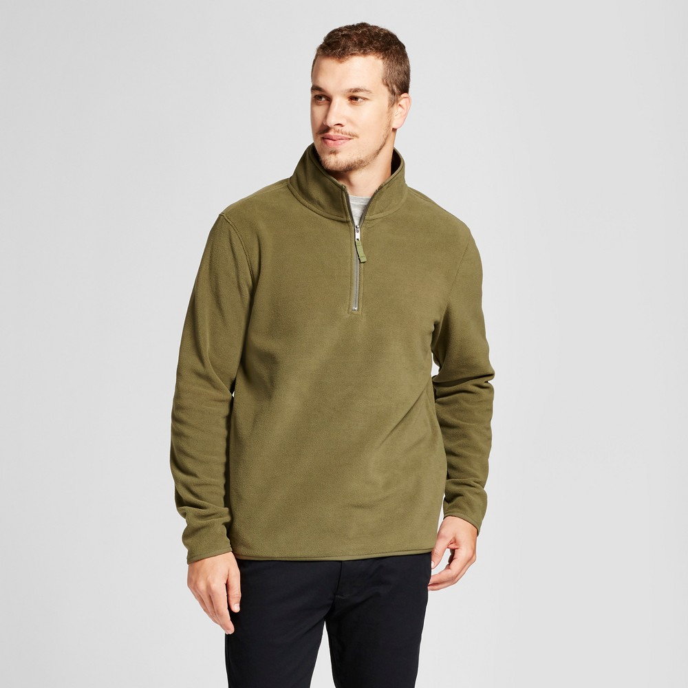Mens Microfleece Pullover - Goodfellow & Co Olive (Green) Xxl