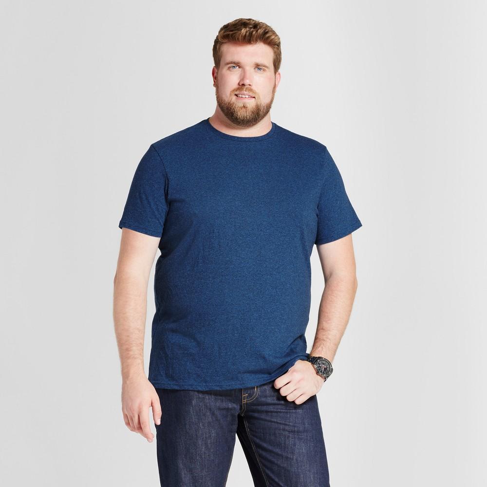 Mens Big & Tall Standard Fit Short Sleeve Crew T-Shirt - Goodfellow & Co Navy (Blue) 4XB