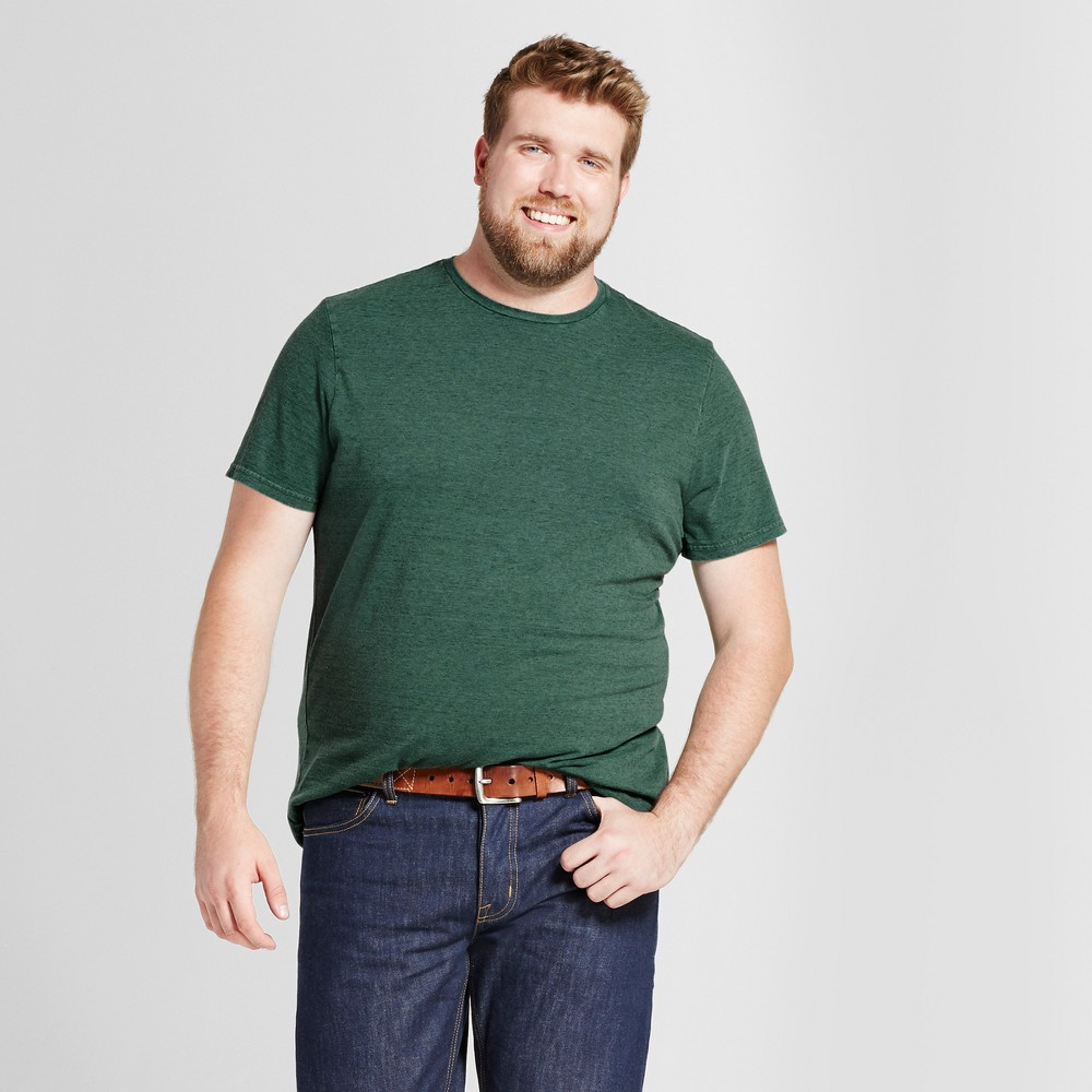 Mens Big & Tall Standard Fit Short Sleeve Crew T-Shirt - Goodfellow & Co Green 2XB