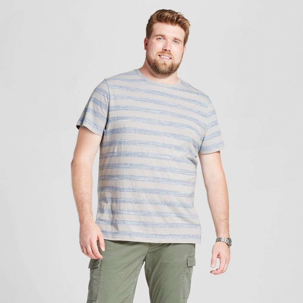 Mens Big & Tall Standard Fit Spacedyed Short Sleeve Crew T-Shirt - Goodfellow & Co Gray 2XBT