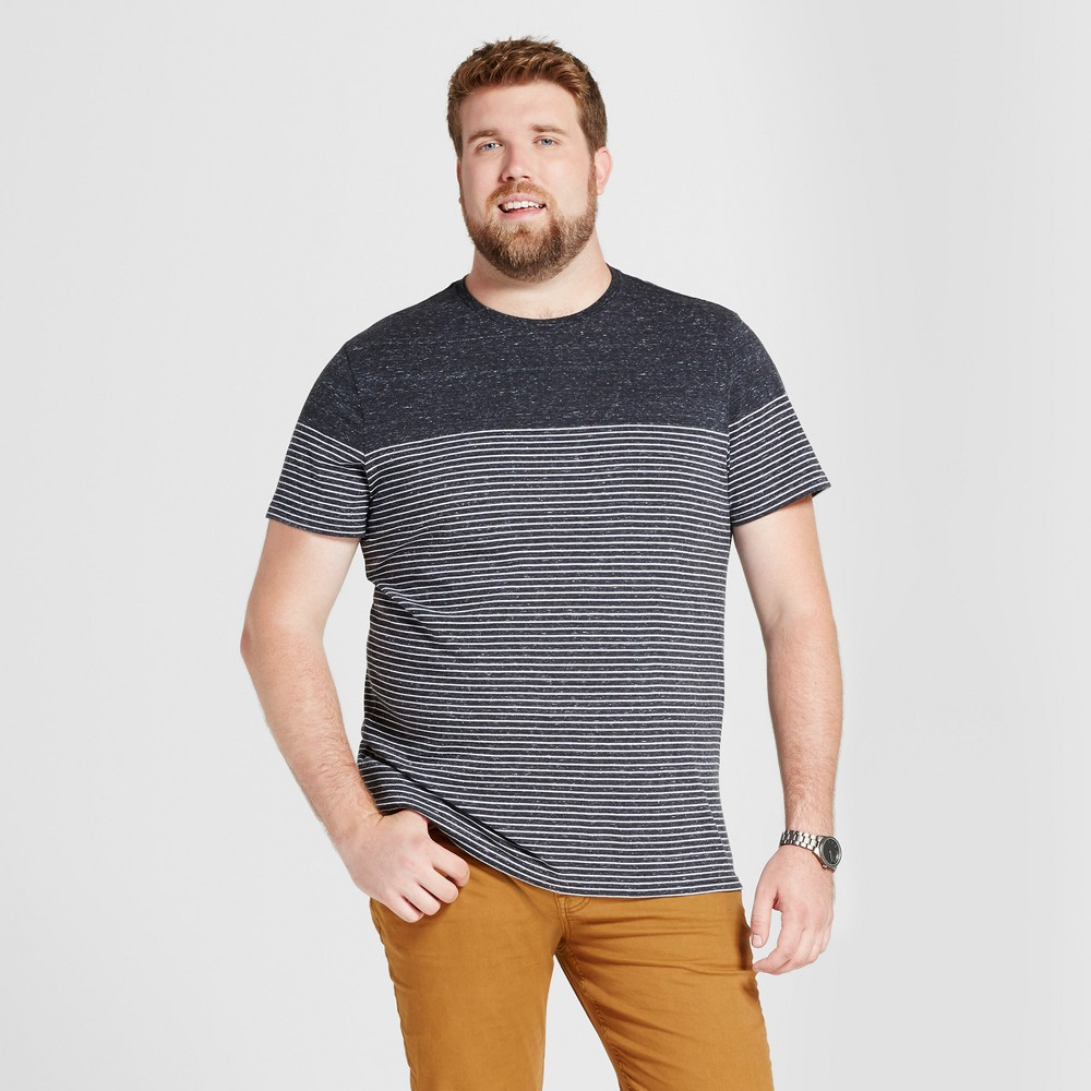 Mens Big & Tall Standard Placed Short Sleeve Crew T-Shirt - Goodfellow & Co Charcoal 2XB, Gray