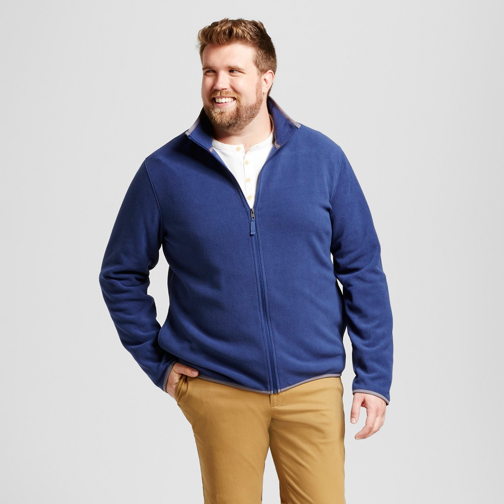 Mens Big & Tall Microfleece Vest - Goodfellow & Co Blue 2XB