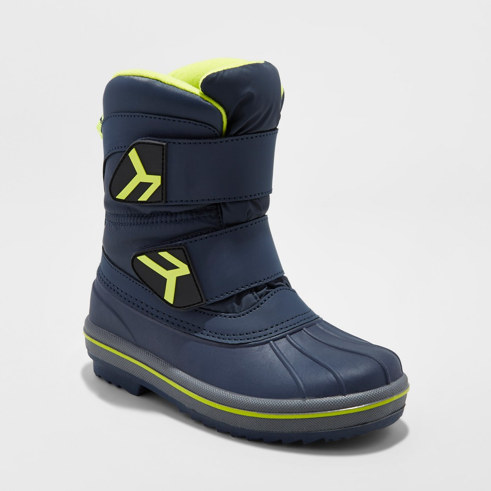 Boys Neko Double Strap Winter Boots - Cat & Jack Navy 5, Blue