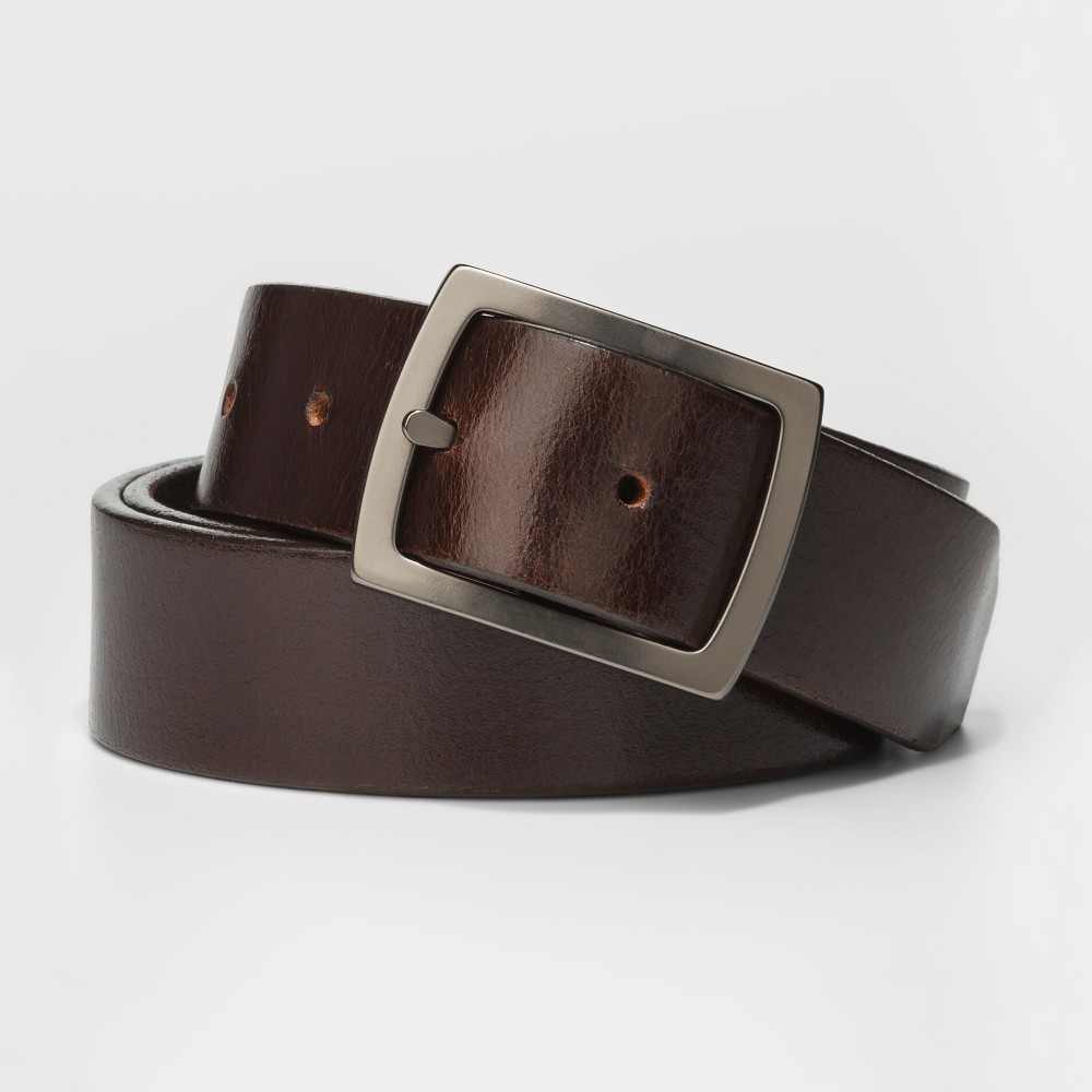 Mens 32mm Centerbar Belt - Goodfellow & Co - Black L, Black Brown
