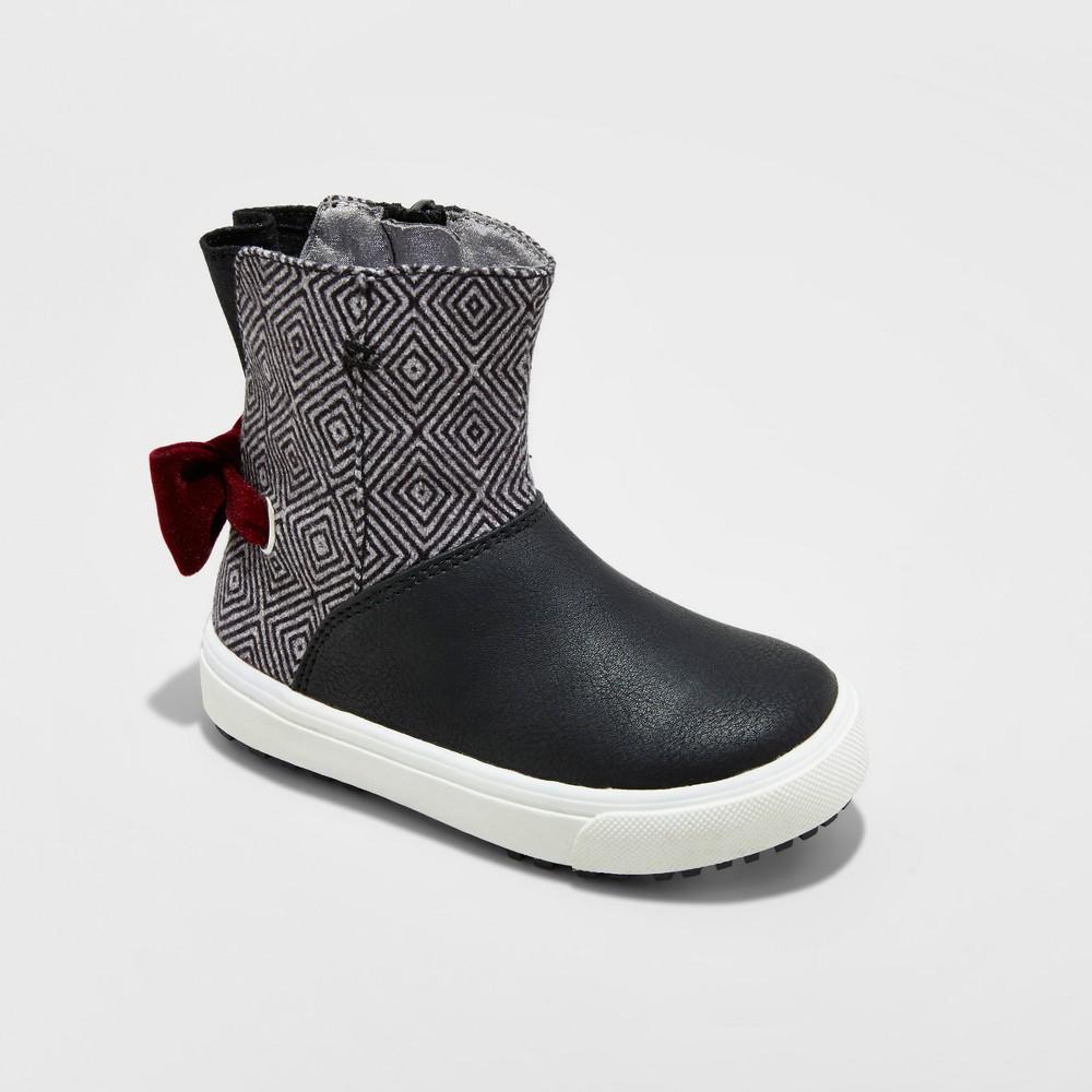 Toddler Girls Just Buds Josie Fashion Boots - Black 6