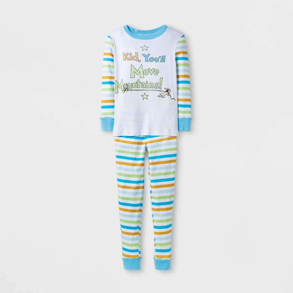 Dr. Seuss Boys Move Mountains Pajama Set - White 8