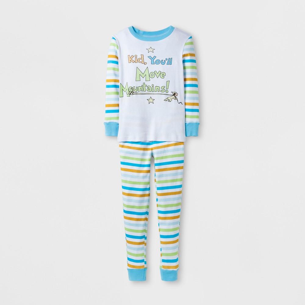 Dr. Seuss Boys Move Mountains Pajama Set - White 6