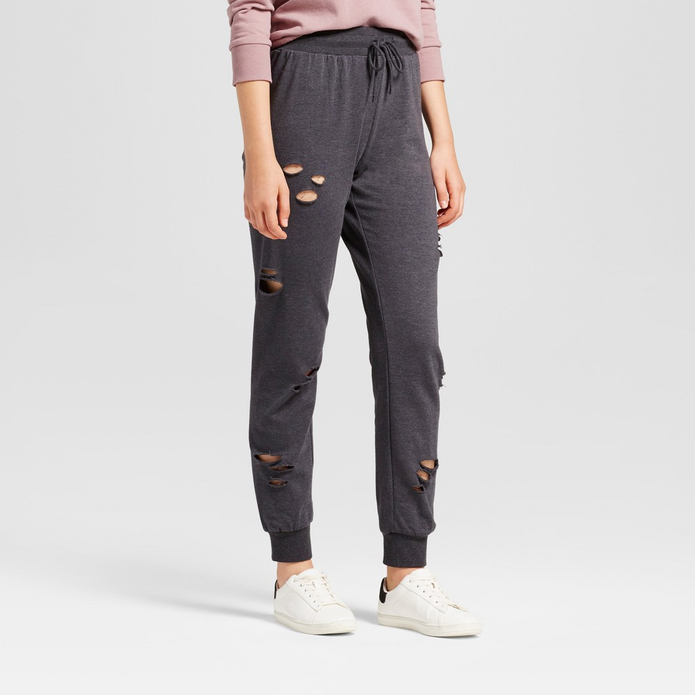 Womens Deconstructed Jogger - Mossimo Supply Co. Charcoal Gray XL