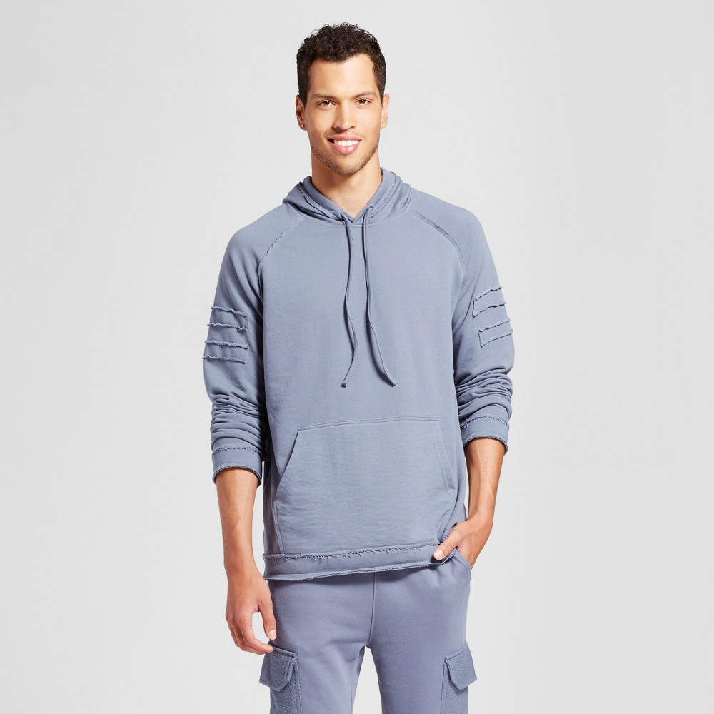 Mens Patched Hoodie - Jackson Slate S, Gray
