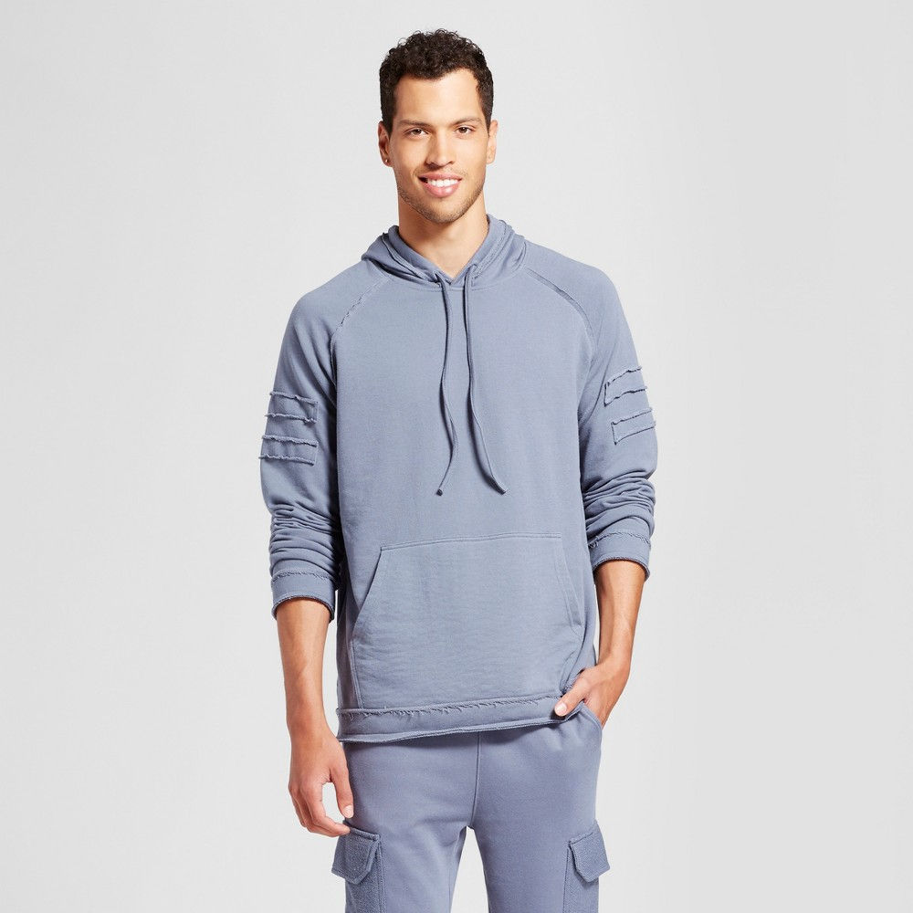 Mens Patched Hoodie - Jackson Slate M, Gray