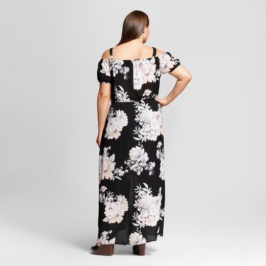 women s plus size floral maxi dress black juniors