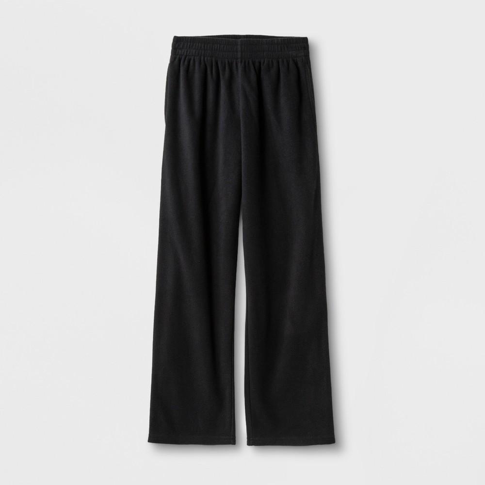 Boys' Microfleece Open Leg Pants - C9 Champion Black S, Ebony
