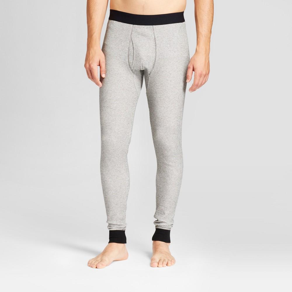 Mens Big & Tall Micro Thermal Pants - Goodfellow & Co Heather Gray LT, Medium Heather Gray