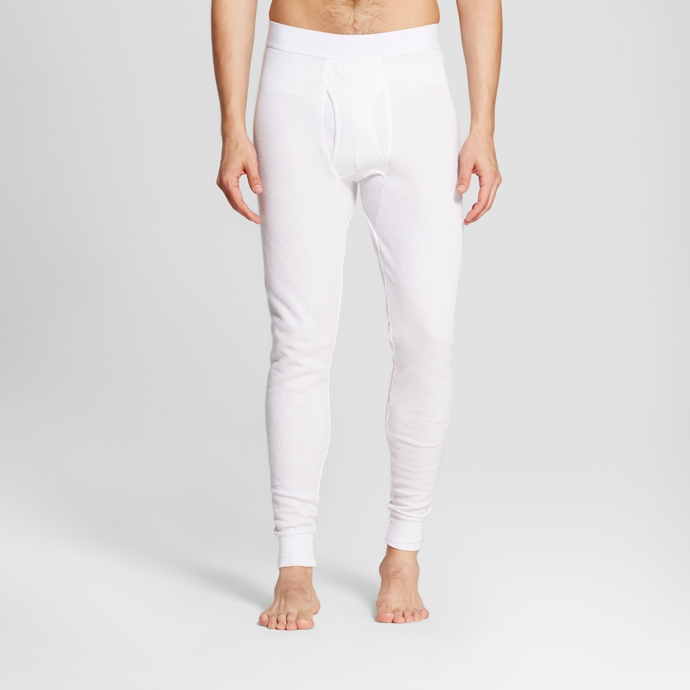 Mens Big & Tall Micro Thermal Pants - Goodfellow & Co White MT