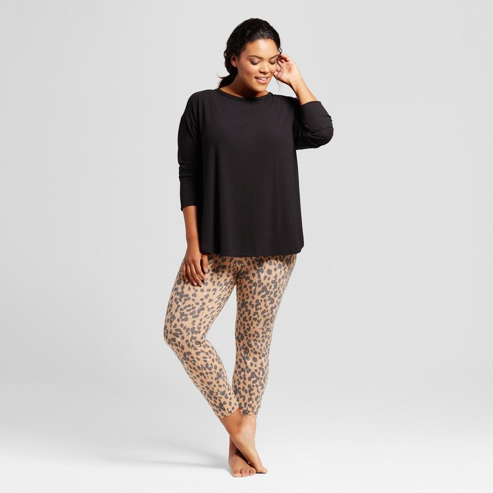 Womens Plus Size Pajama Set - Xhilaration Honey Beige 1X, Orange