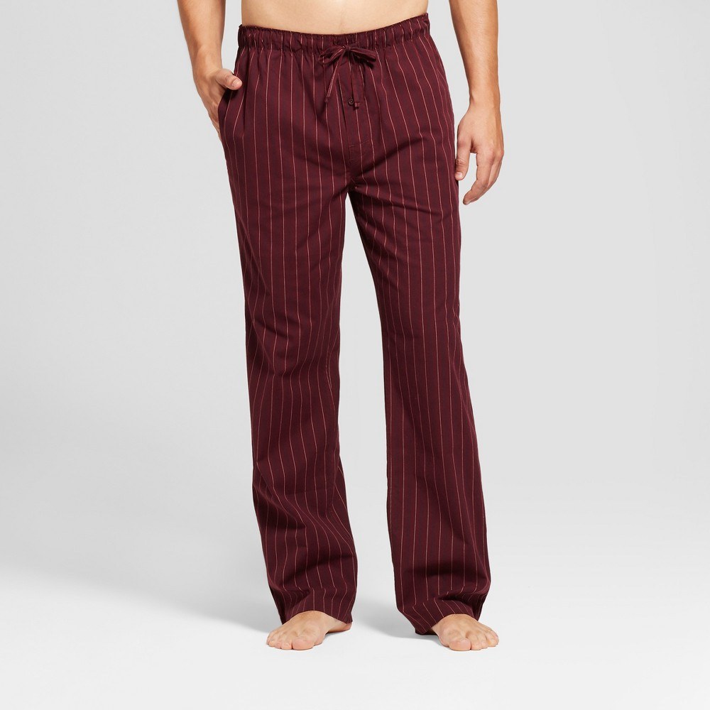Mens Knit Pajama Pants - Goodfellow & Co Burgundy (Red) Stripe M