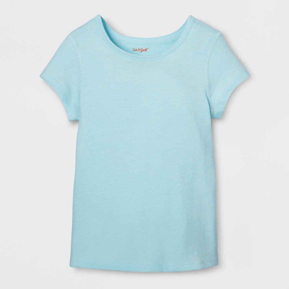 Toddler Girls Sensory Friendly T-Shirt - Cat & Jack Light Blue 3T