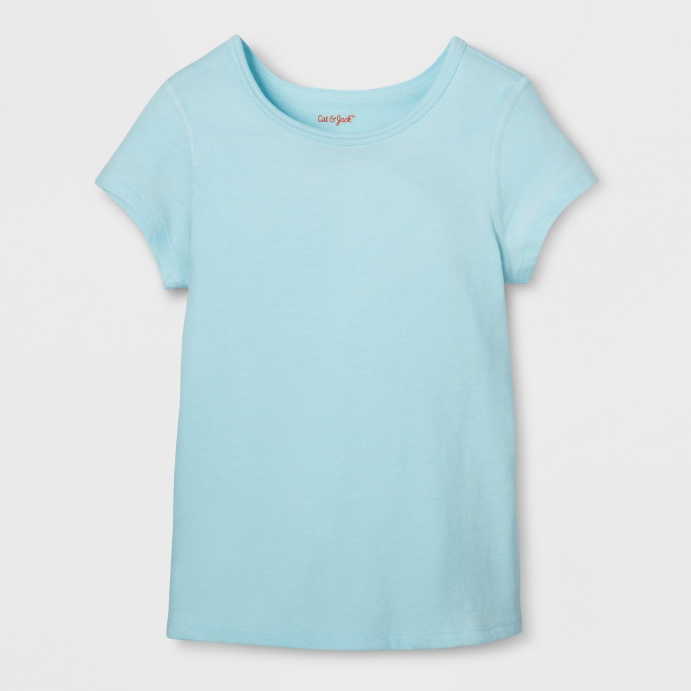 Toddler Girls Sensory Friendly T-Shirt - Cat & Jack Light Blue 4T