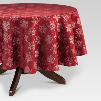 Red Jacquard Tablecloth - Threshold™