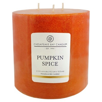 Pillar Candle - Pumpkin Spice - 6  - Chesapeake Bay Candle