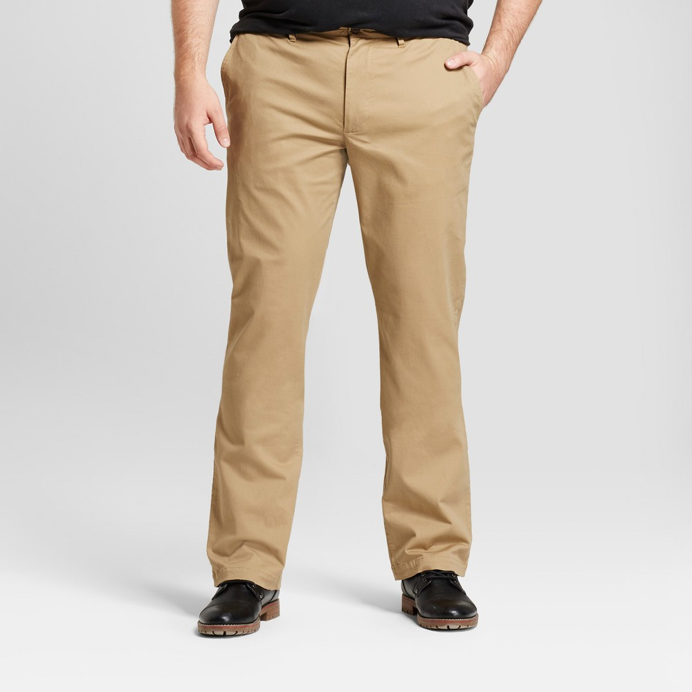 Mens Big & Tall Straight Fit Hennepin Chino Pants - Goodfellow & Co Tan 44x34