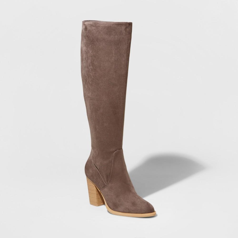 Womens dv Afton Heeled Tall Boots - Gray 10