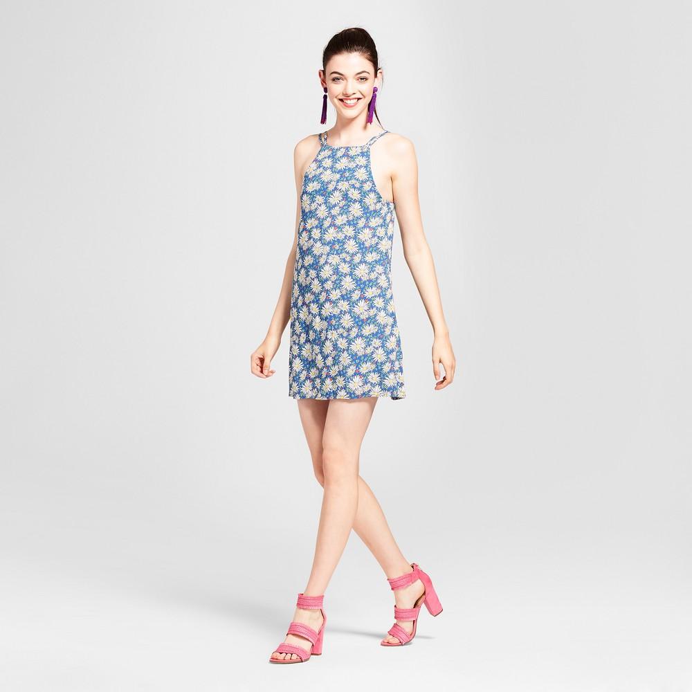 Womens Daisy Print Tank Dress - Love @ First Sight (Juniors) XL, Multicolored