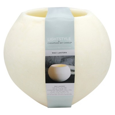 Fragrance Free Large Sphere Lantern - Cream - 10.5  - Chesapeake Bay Candle