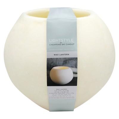 Fragrance Free Large Sphere Lantern - Cream - 10.5  - Chesapeake Bay Candle