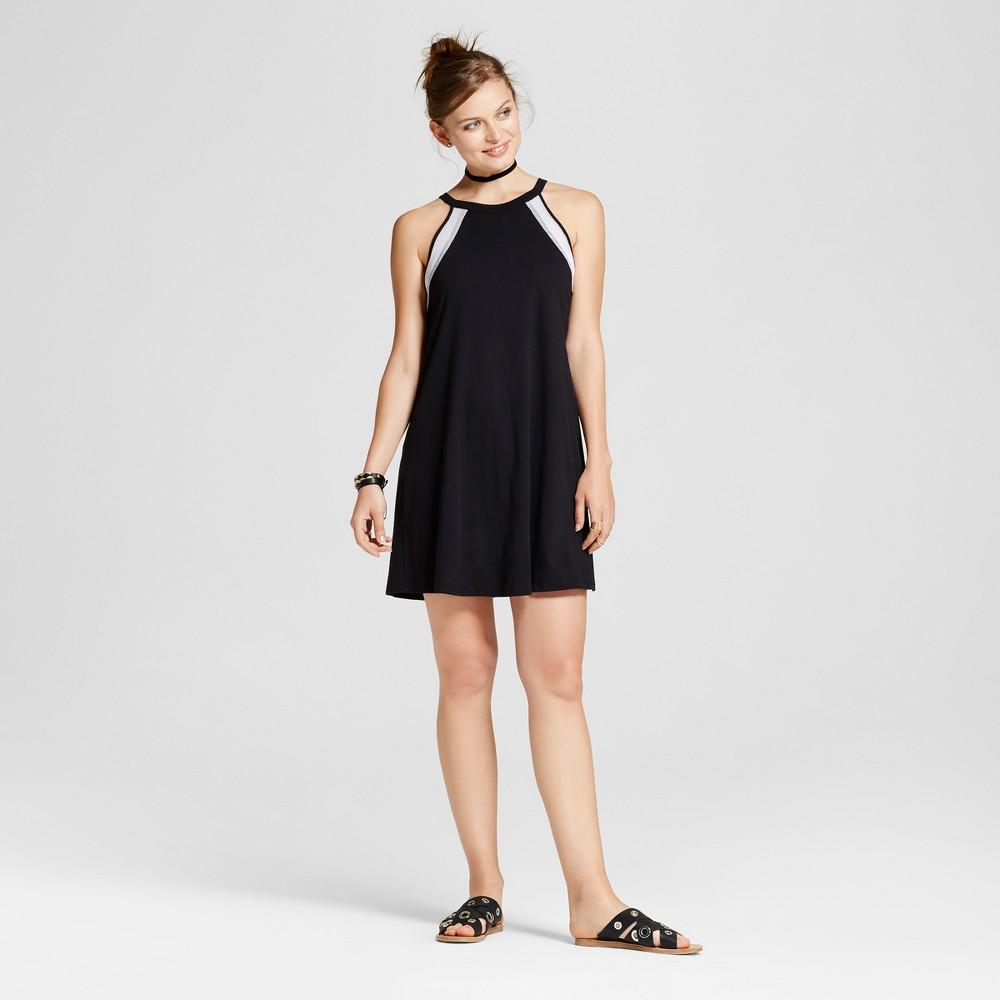 Womens High Neck Colorblock Halter Dress - Soul Cake (Juniors) Black M