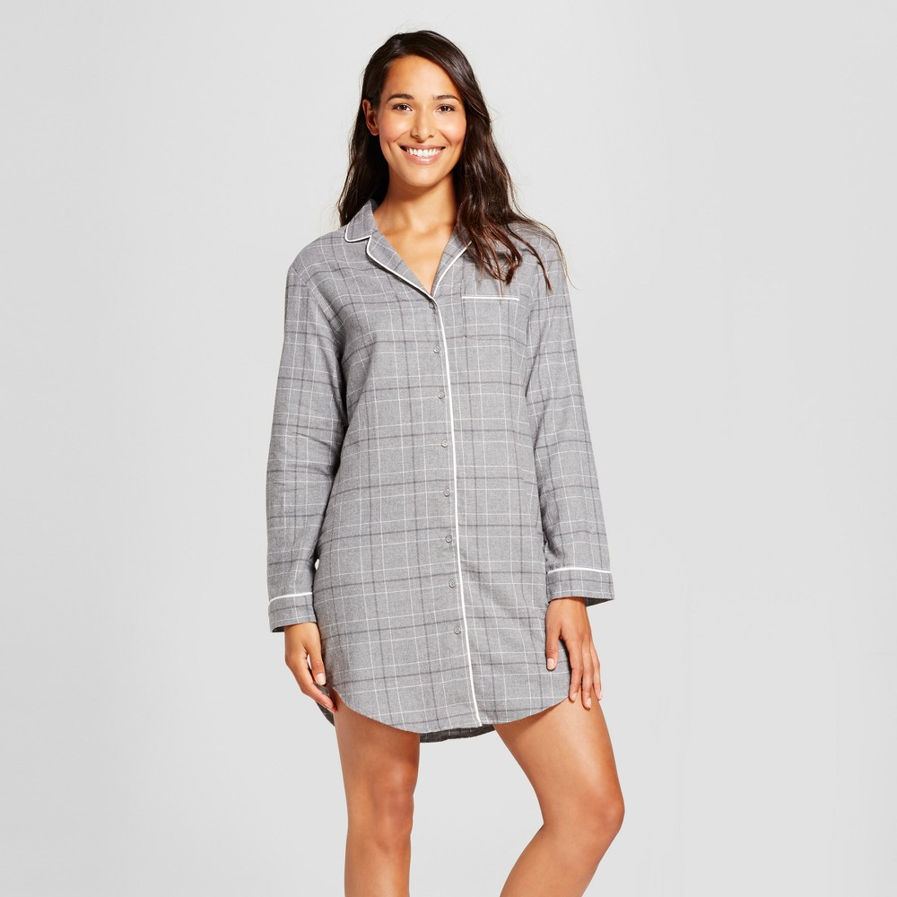Womens Nightgowns Heather Gray XS