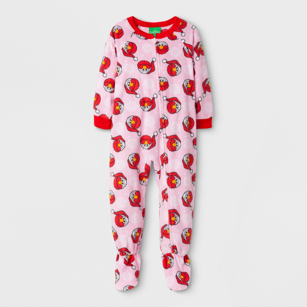 Footed Sleepers Sesame Street Sesame Street 2T Pink, Toddler Girls