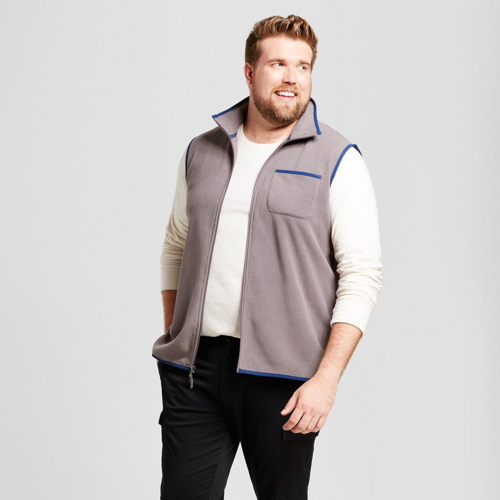 Mens Big & Tall Microfleece Vest - Goodfellow & Co Orange Xlt