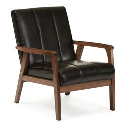 Upholstered Mid Century Modern Sculpted Lounge Chair And