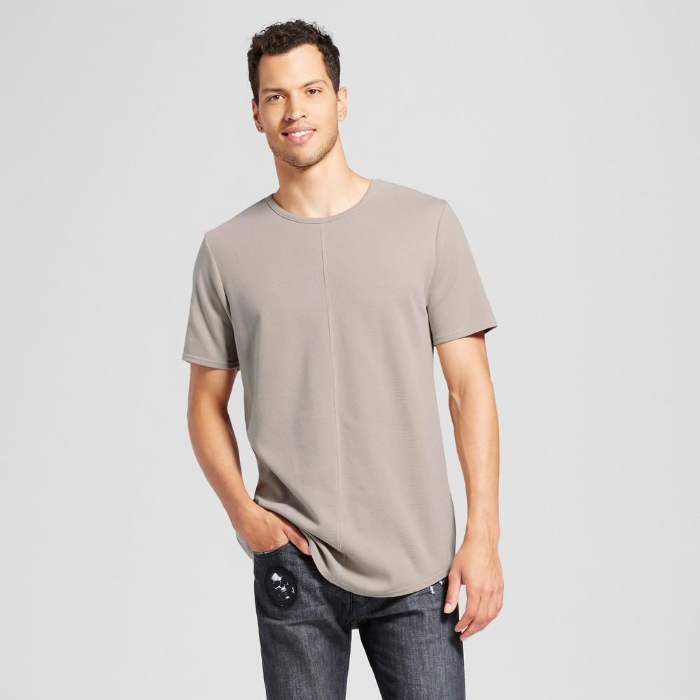 Mens Seamed Curve Hem T-Shirt - Jackson Sand (Brown) L