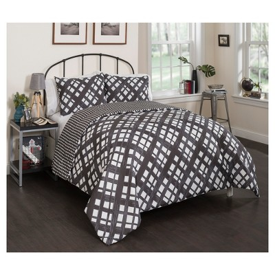Black & White Geo Mae Reversible Comforter Set (Twin XL)2pc - Vue®