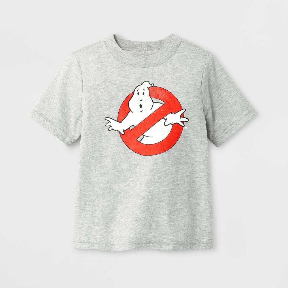Toddler Boys Ghostbuster Logo Long Sleeve T-Shirt - Black/Gray 4T