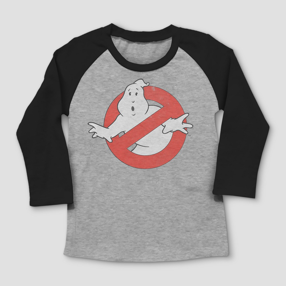 Toddler Boys Ghostbuster logo Short Sleeve T-shirt - Gray 2T