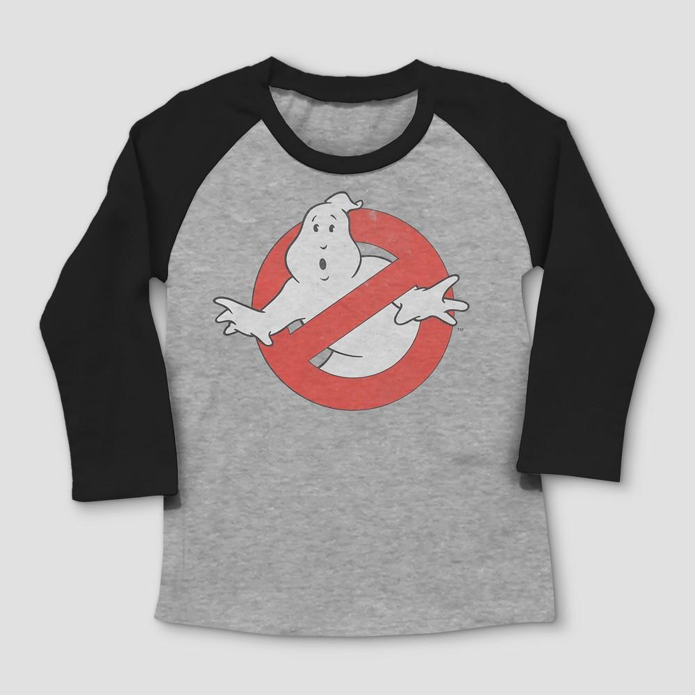 Toddler Boys Ghostbuster logo Short Sleeve T-shirt - Gray 3T